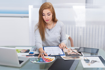 Young Woman Choosing Color