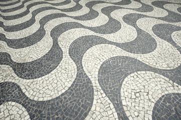 Copacabana Beach Tile Boardwalk Rio de Janeiro