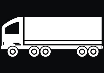 lorry - black background