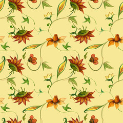 Folk seamless pattern