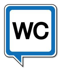 Logo toilettes. WC.