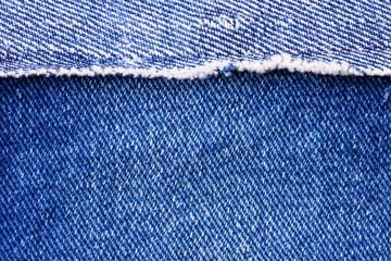 Macro of a blue jeans texture, denim fabric closeup