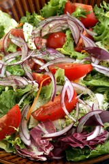 salad with raw vegetables