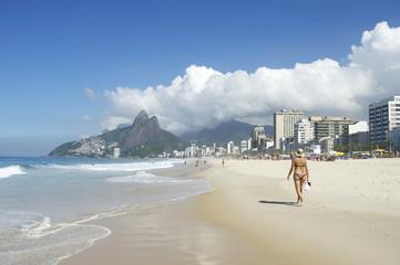 Rio de Janeiro Brazil Ipanema Beach City Skyline
