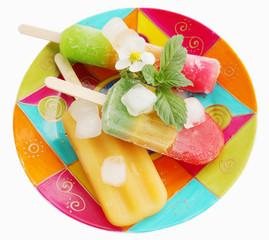 summer dessert on the plate