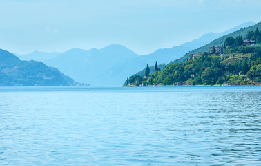 Lake Como (Italy) view from ship