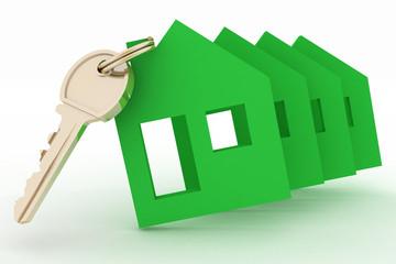 Models ecological houses symbol and key