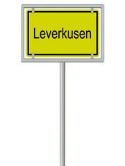 Leverkusen - Ortsschild
