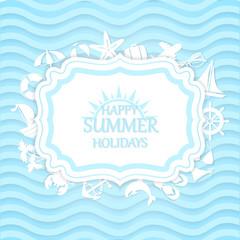 Happy summer vacation at sea