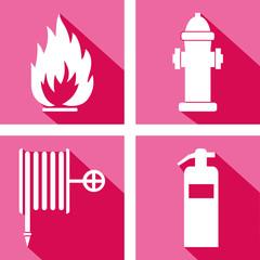 Matériel de lutte contre l'incendie.