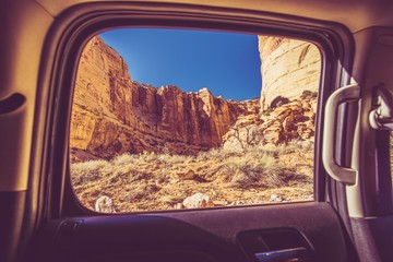 Wall Mural - Scenic Car Window View