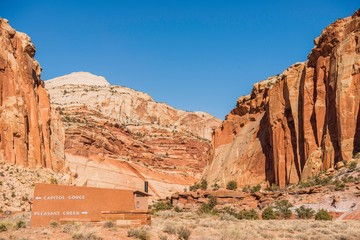 Wall Mural - Capitol Reef Trails Sign