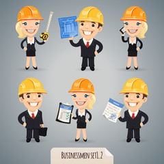 Businessmen Cartoon Characters Set1.2