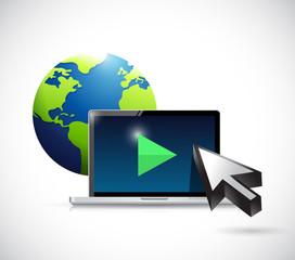 international video marketing concept illustration