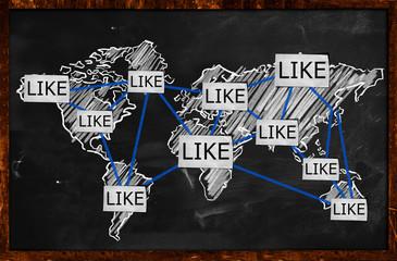 World Like Connection on Blackboard