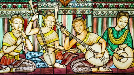 thai art stain glass