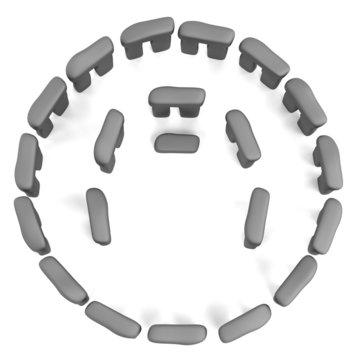 realistic 3d render of stonehenge