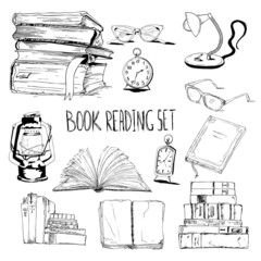 Books reading set