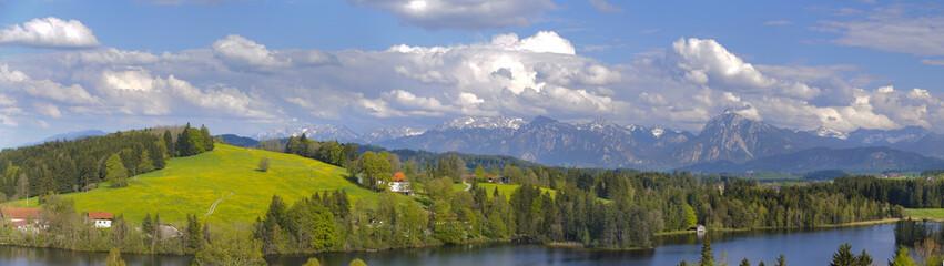 Wall Mural - Panorama Landschaft im Allgäu