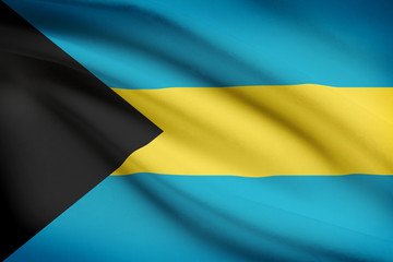 Series of ruffled flags. Bahamas.