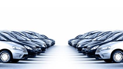 Viele Fahrzeuge