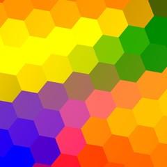 Rainbowy Hexagons