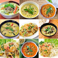 thaifood, green curry , padthai