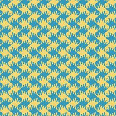 Seamless pattern with stylized birds