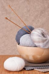 Knitting Accessories. Yarn Balls