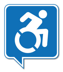 Logo personne handicapée.