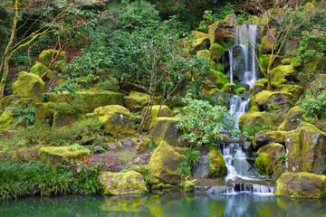 Asian Garden Waterfall