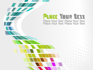 colorful funky abstract background