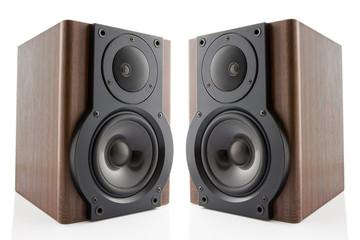 Pair of music speakers