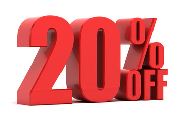 20 percent off promotion