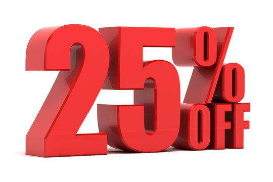 25 percent off promotion