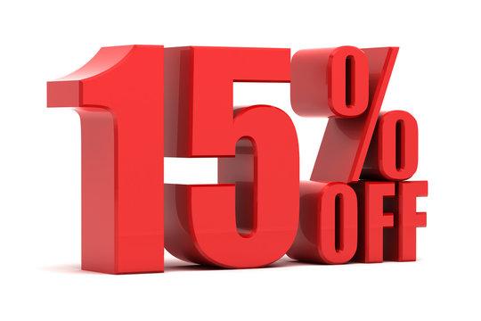 15 percent off promotion