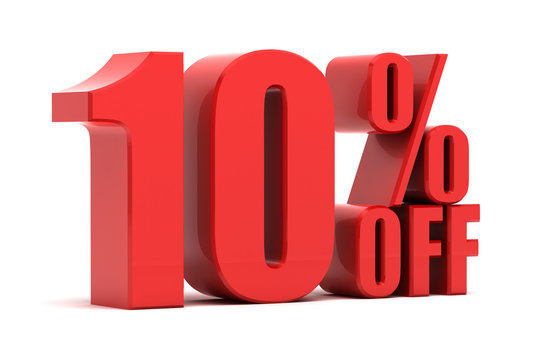 10 percent off promotion