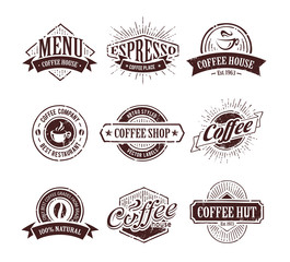 Retro Coffee Stamps
