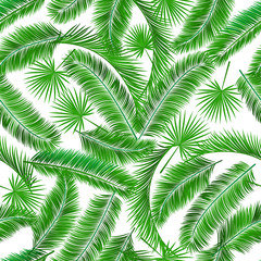 Tropical palm tree seampless pattern