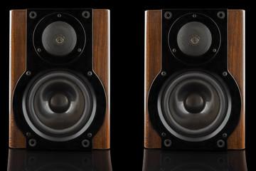 Pair of modern sound speakers
