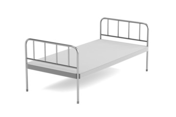 realistic 3d render of medical bed