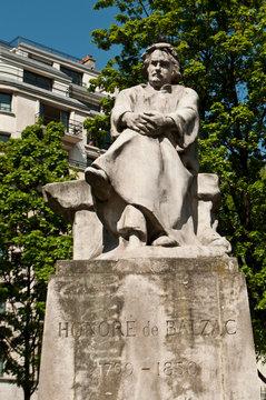 Statue Honoré de Balzac à Paris