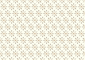 Vintage Flower and Arrow Pattern on Pastel Background