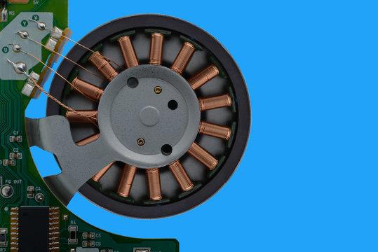 Winding brushless motor