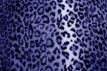 Purple / lilac leopard animal print fur pattern - fabric