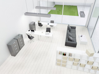 Interior of modern office, workplace