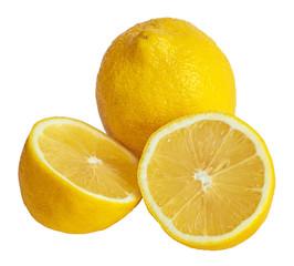 lemons. Isolated on white background