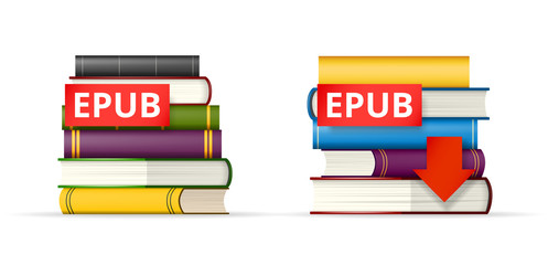 EPUB books stacks  icons