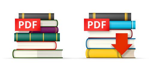 PDF books stacks  icons