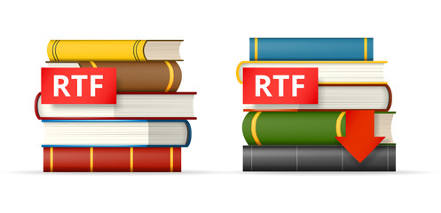 RTF books stacks  icons